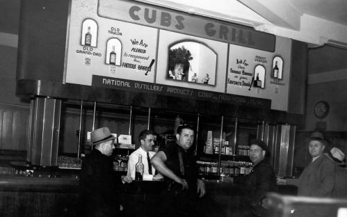 Grill and bar at Wrigley Field in the 1930s (image)