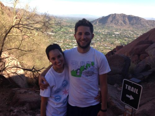 Me and Josh on Camelback (image)